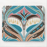 boho art nouveau chic abstract design mouse pad
