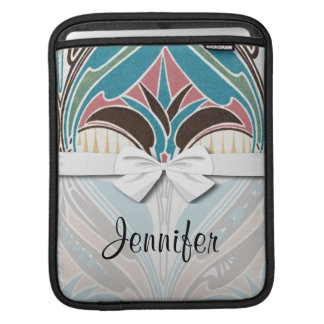 boho art nouveau chic abstract design sleeve for iPads