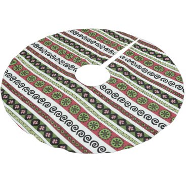 Aztec Themed Boho Aztec Pattern Modern Holiday Brushed Polyester Tree Skirt