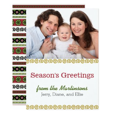 Aztec Themed Boho Aztec Pattern Modern Holiday Photo Card