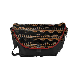 Boho Aztec Tribal Inspired Arrows + Pick Color Small Messenger Bag