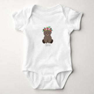 Boho Baby Bear Cub Personalized Baby Bodysuit