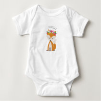 Boho Baby Fox Personalized Baby Bodysuit