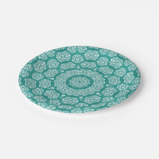 Boho Bazaar, Mix & Match Cerulean Pattern Paper Plate