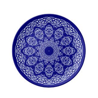 Boho Bazaar, Mix & Match Cobalt Pattern Porcelain Plates
