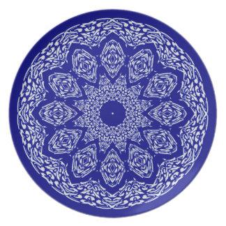 Boho Bazaar, Mix & Match Cobalt Pattern Dinner Plate