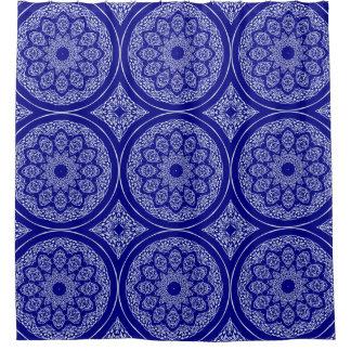 Boho Bazaar, Mix & Match Cobalt Pattern Shower Curtain