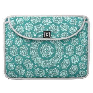 Boho Bazaar Mosaic Cerulean Pattern MacBook Pro Sleeves
