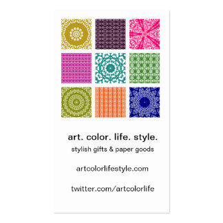 Boho Bazaar Mosaic Patchwork Custom Business Card Templates