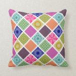 Boho Bazaar Mosaic Patchwork Pillow