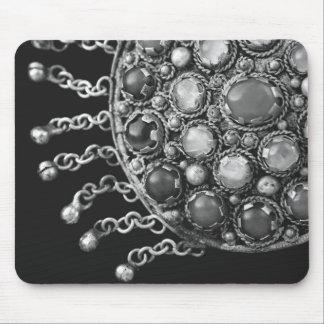 Boho Black and White Ethnic Jewelry Photo Mouse Pad