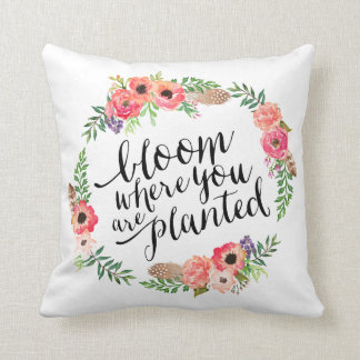 Boho Bloom   Throw Pillow
