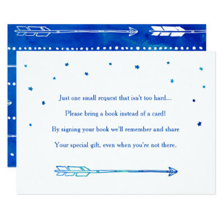 Boho Blue Adventure Themed Book Request Cards