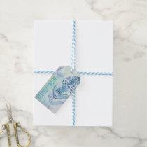 Boho Blue Birthday Wishes Gift Tags