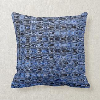 Boho Blue Black Grey Millefiori Zig Zag Mosaic Pillows