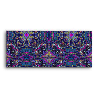 Boho blue kaleidoscope native american trend envelope
