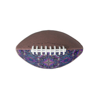 Boho blue kaleidoscope native american trend football
