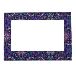 Boho blue kaleidoscope native american trend magnetic frame