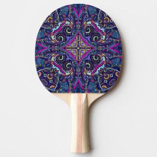 Boho blue kaleidoscope native american trend Ping-Pong paddle