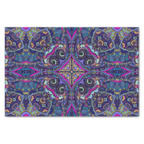 Boho blue kaleidoscope native american trend tissue paper