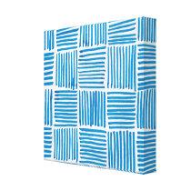 Boho Blue Texture Art Canvas Pattern Print
