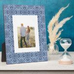 Boho Blue Trellis Photo Plaque