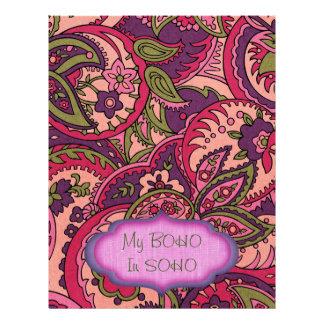 BOHO Bohemian Colorful Paisley Scrapbook Paper