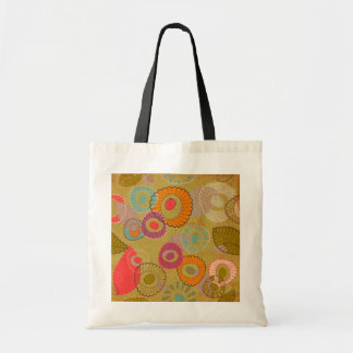 Boho Bohemian Retro Colorful Floral Flowers Tote Bag
