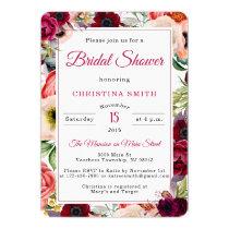 Boho Bridal Shower Invitations - Watercolor Floral