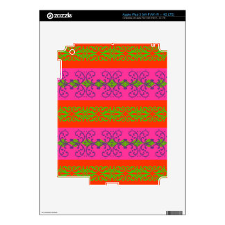 Boho Brocade Stripe Decals For iPad 3