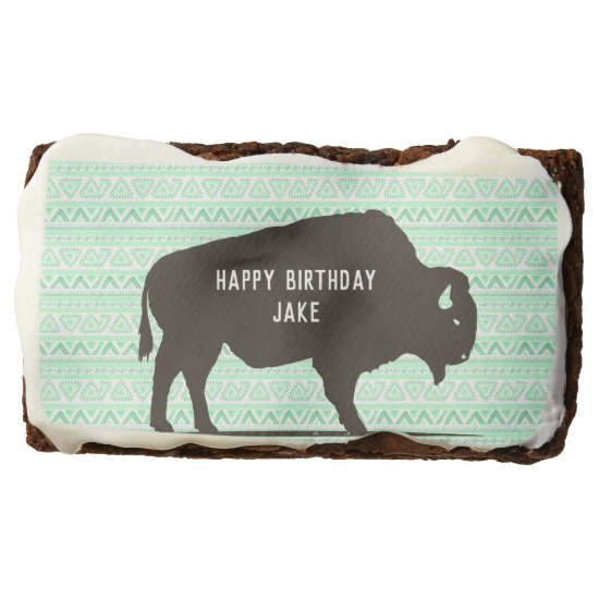 Boho Buffalo Customizable Brownie