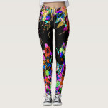 "Boho Butterfly Garden Leggings<br><div class=""desc"">Lovely bohemian inspired fashion leggings. These quality leggings are embellished with beautiful hand painted boho floral patterns and butterflies. Perfectly paired with a blazer for day - or as unique and stylish work out wear for a trip to the gym - these quality custom leggings are perfect for every occasion....</div>"