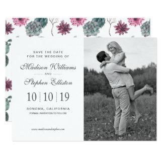 Boho Cactus, Succulent & Floral - Save the Date Card