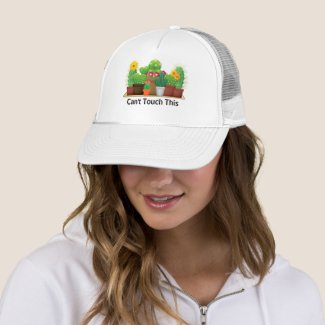 BOHO Cactus Succulents White Trucker Hat