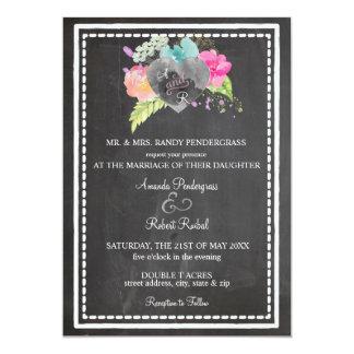 Boho Chalkboard Invitation