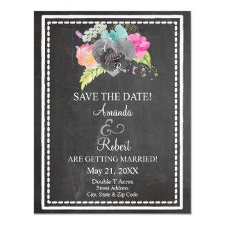 Boho Chalkboard Save the Date Card