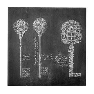 boho Chalkboard Victorian steampunk skeleton keys Tile