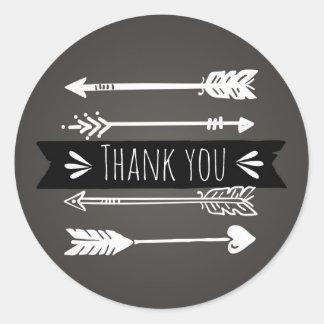 Boho Chic Arrows | Thank You Sticker