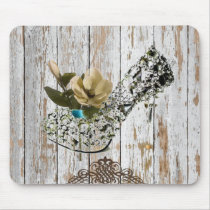 boho chic barn wood rustic country wedding mouse pad