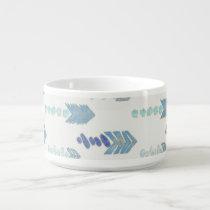 boho chic blue arrows native pattern bowl
