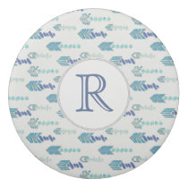 boho chic blue arrows native pattern eraser