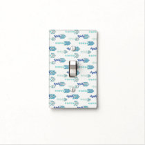 Boho Chic Blue Arrows Native Pattern Light Switch Cover