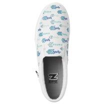 boho chic blue arrows native pattern Slip-On sneakers