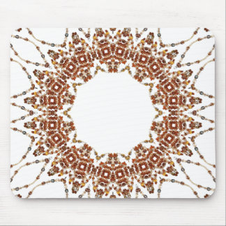 Boho Chic Brown Bead Love Mouse Pad