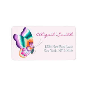 Boho Chic Butterfly Labels