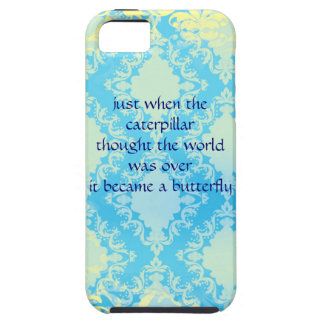 Boho Chic Butterfly Quote Iphone 5 Case