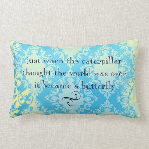 Boho Chic Butterfly Quote Throw Pillow