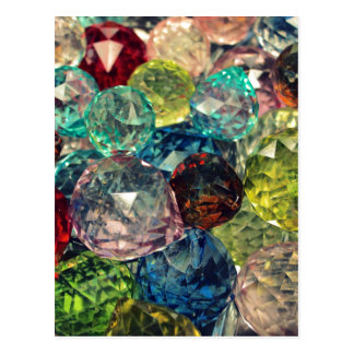 Boho Chic: Colorful Glass Beads Post Card