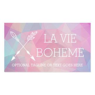 Boho Chic Crossed Arrows Pastel Polygonal Bohemian Business Card