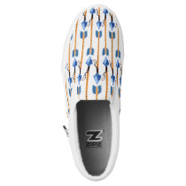 boho chic feather arrow native pattern Slip-On sneakers